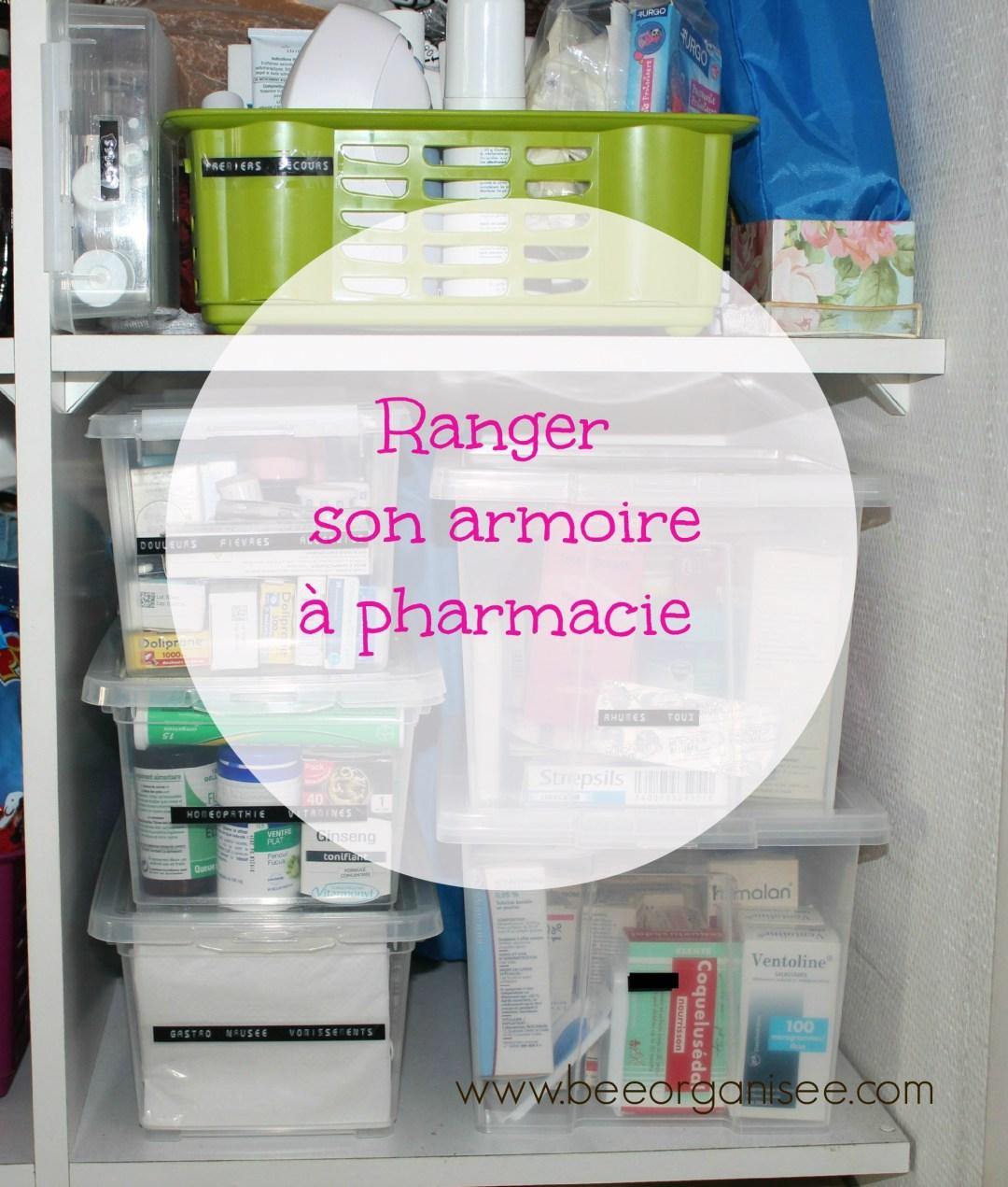 Ranger son armoire pharmacie bee organis e for Pharmacie de garde salon