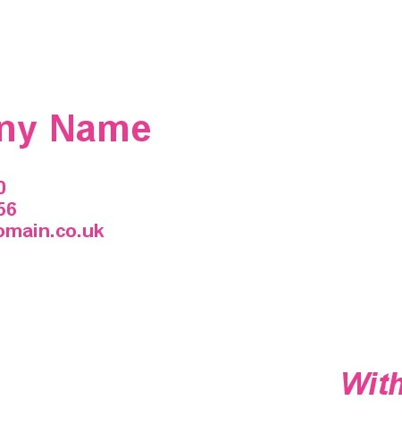 Personalised With Compliment Slips Printing in London - BeePrinting - compliment slip template