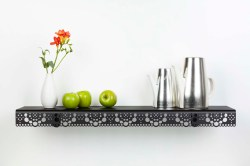 Amazing Granny Black Teapot Granny Wall Shelf Black Beerd Van Stokkum Stainless Steel Bathroom Wall Shelf Vintage Metal Bathroom Wall Shelf
