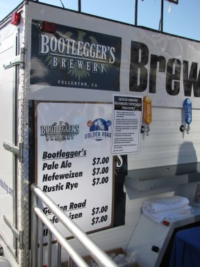 The craft beer booth. Bootlegger's and Golden Road