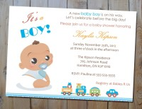 The Best Wording For Boy Baby Shower Invitations | FREE ...
