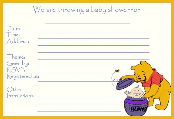 Free Printable Baby Shower Invitation To Save Your Money FREE