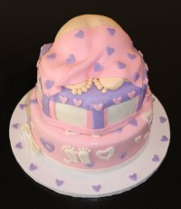 How To Throw Girl Baby Shower Cakes | FREE Printable Baby ...