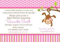 Monkey Baby Shower Invitation Ideas | FREE Printable Baby ...