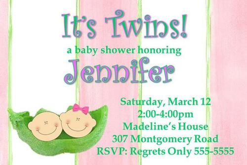 Baby Shower Invitations for Twins FREE Printable Baby Shower