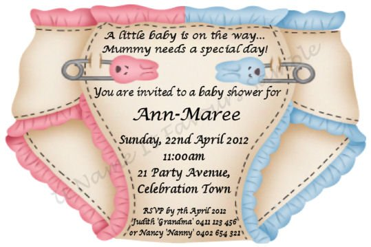 Free Twin Baby Shower Invitations Templates - Wedding Invitation