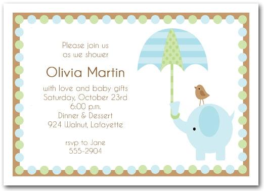 Elephant Baby Shower Invitations FREE Printable Baby Shower