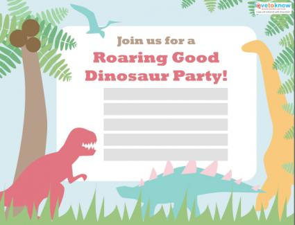 Free Invitation Dinosaur Orderecigsjuiceinfo