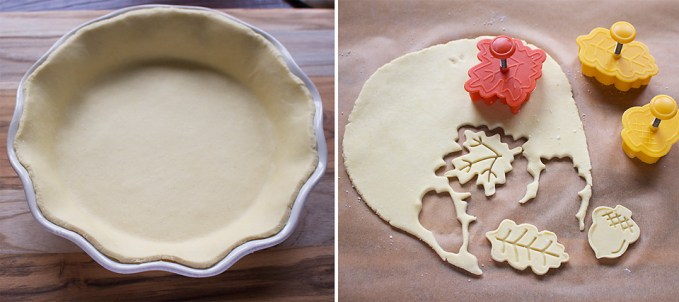 Place a pie weight (or some parchment paper with a handful of dried ...