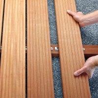 Unsichtbare Befestigung Terrassendielen Holz