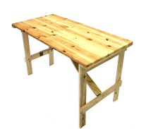 "Wooden Trestle Table - 4 Foot by 2 Foot 6"" - BE Furniture ..."