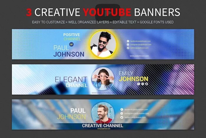 200 Best YouTube Banner Templates 2018 - channel banner template