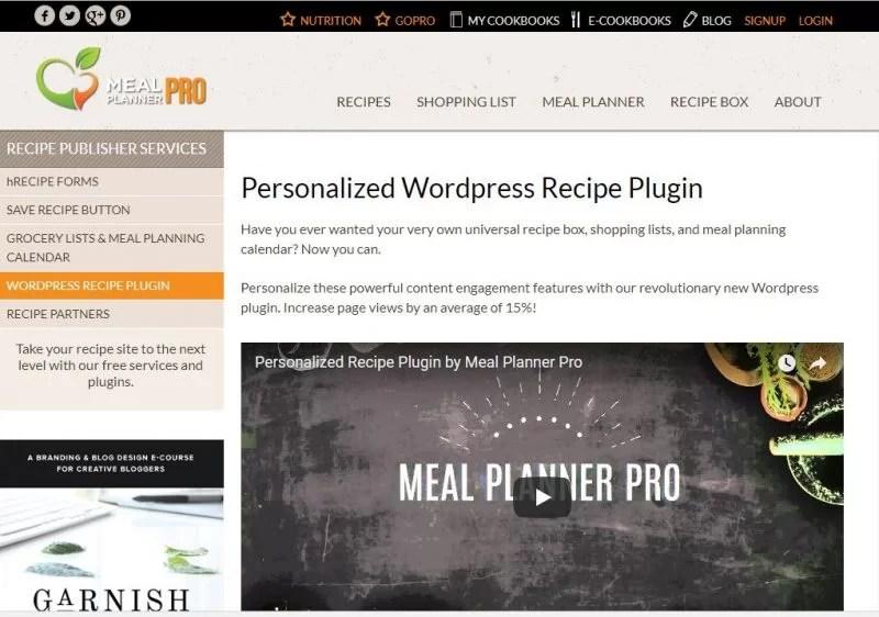 20 Best Food Recipe WordPress Plugins 2018