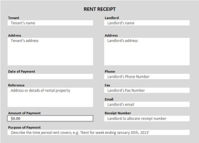 Home Rent Receipt Format - Arch-times - home rent receipt