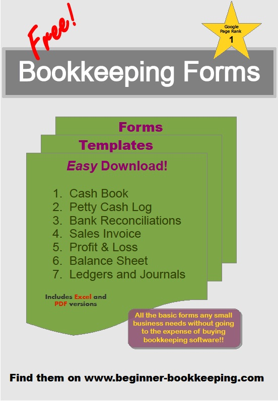 Free Bookkeeping Forms and Accounting Templates Printable PDF - business forms templates free
