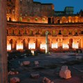 Trajan's Forum by night, Rome