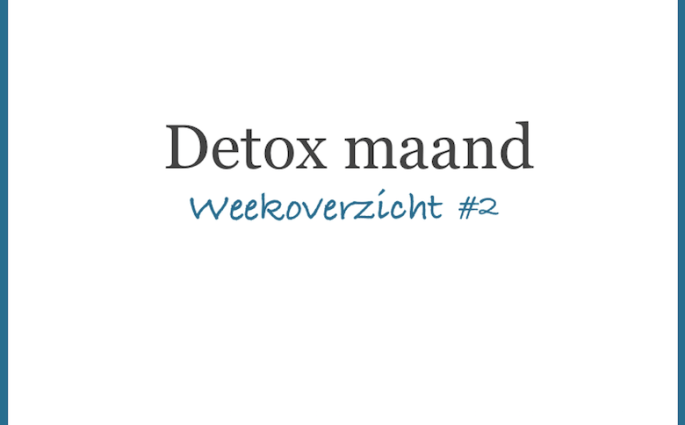 Detoxmaand week 2