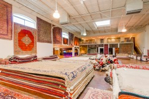 persian rugs showroom layout