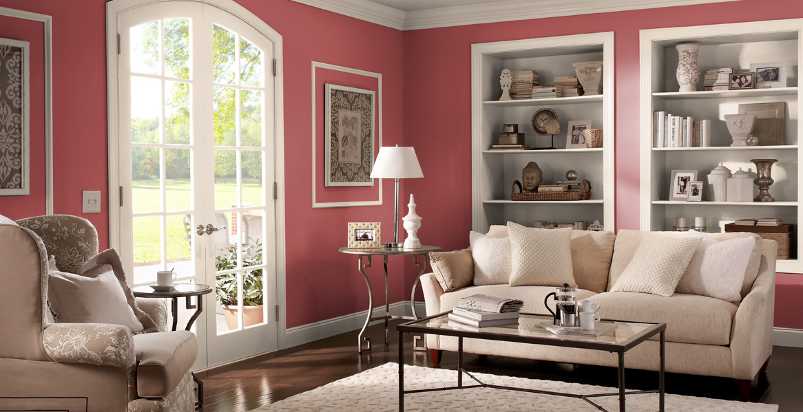 Red Painted Room Inspiration \ Project Gallery Behr - living room paint color