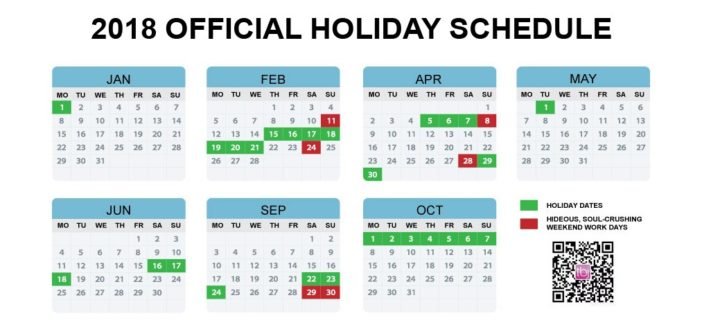 China\u0027s Official 2018 Holiday Calendar Announced Earlier Than Ever