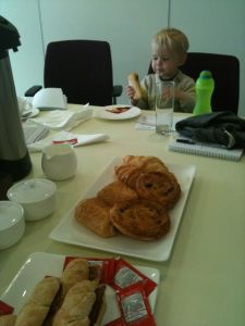 Ned in the boardroom with me whilst I was doing some freelance work