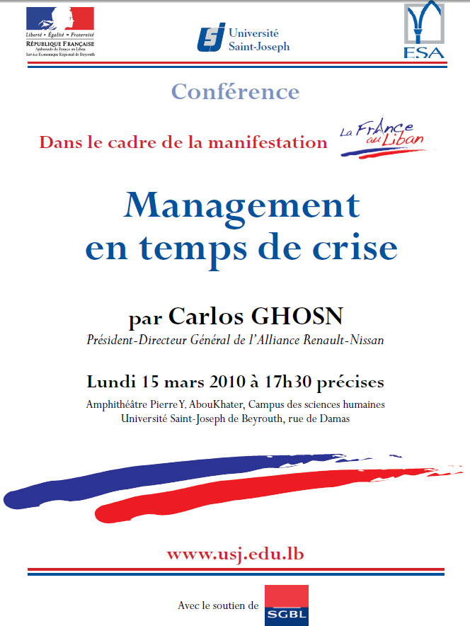 Carlos Ghosn- Management in the time of Crisis