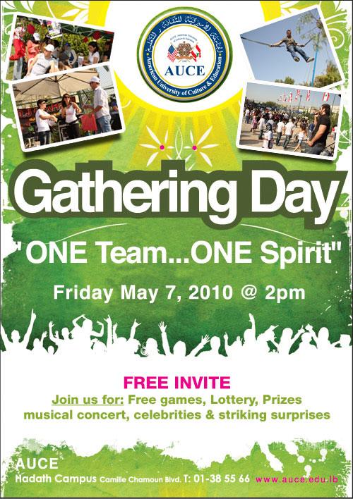 "AUCE Gathering Day ""One Team, One Spirit"""