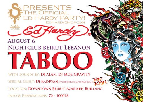 """Official """"ED HARDY"""" Party at Taboo"""
