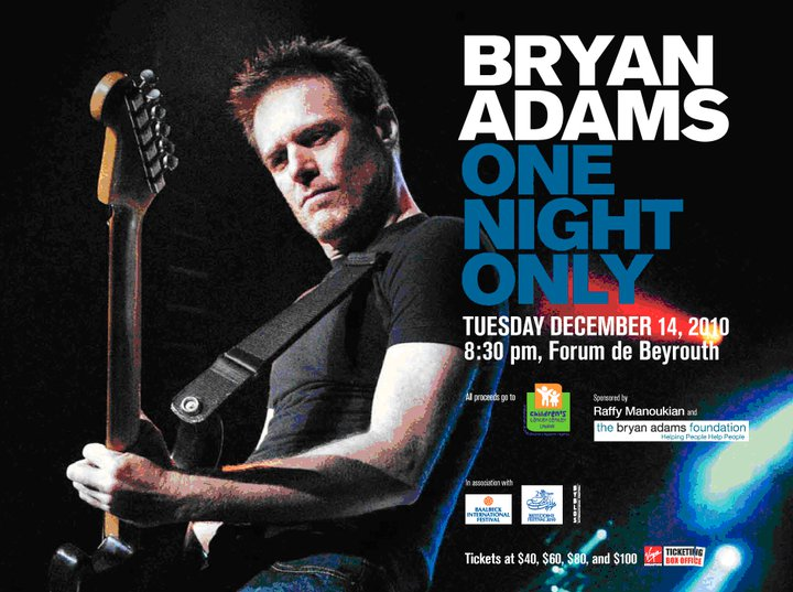 Bryan Adams – One Night Only In Beirut