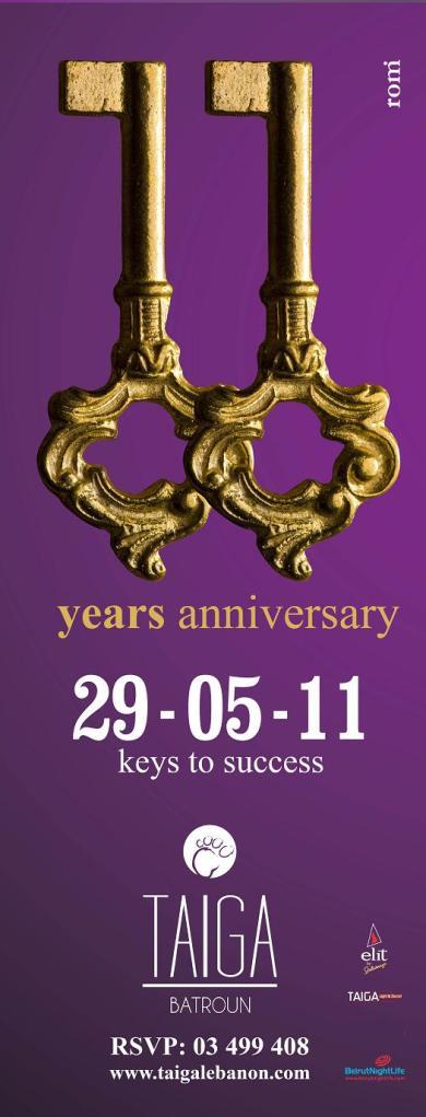 11 Years Anniversary Of Taiga Batroun
