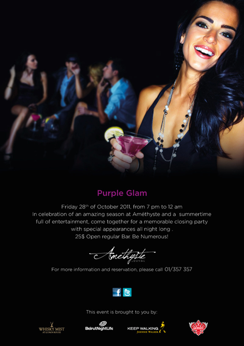 Meet Us This Friday Oct. 28th! Amethyste PURPLE GLAM Closing Event