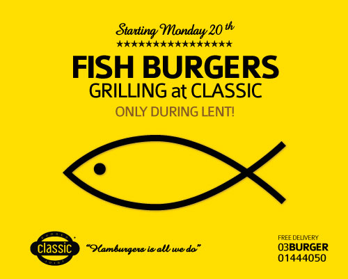 Fish Burgers Grilling at Classic!