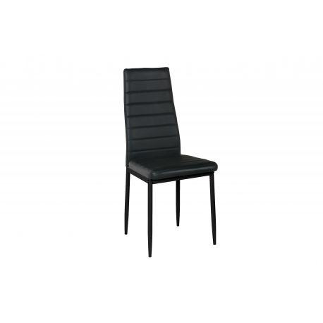 Chaise de salle à manger en cuir noir moderne à acheter en ligne