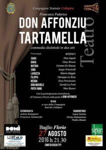 """Debutto della compagnia Cellòpira con """"Don Affonziu Tartamella""""  al Baglio Florio Cave di Cusa"""