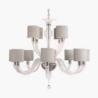 Raphael Chandelier With Drum Shades | Ceiling Lights ...