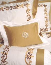 Monogrammed Bed Linens-Luxury Monogrammed Bedding