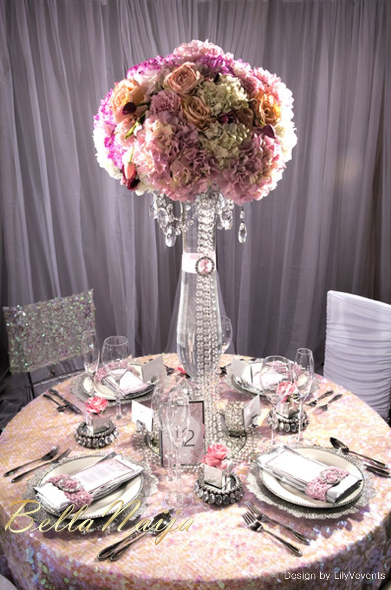 wedding decor inspiration pink crystal enchanted elegance by lilyvevents wedding decor Enchanted Elegance by LilyVevents BellaNaija Weddings February BellaNaija