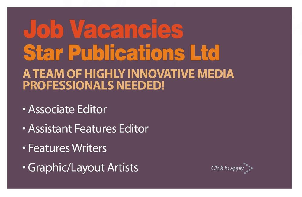 Job Posting Star Publications - Writers, Editorial  Graphic Design