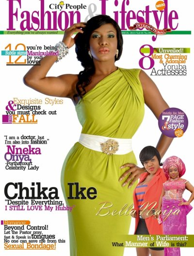 Nollywood Actress Chika Ike covers the October Issue of ...