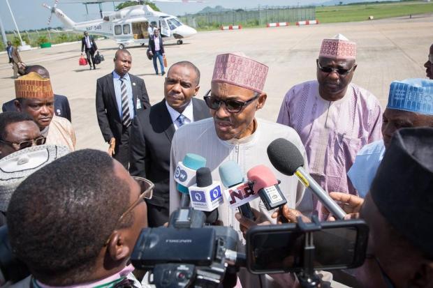 President Buhari Departs for London2