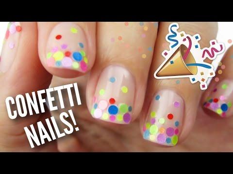 Bn Beauty Monday Manicure Diy Confetti Nail Art By