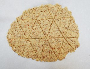 """Almond Crust """"Tortilla"""" Chips"""