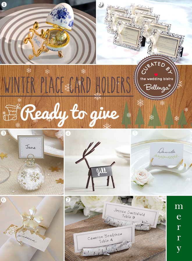 Creative Winter Wedding Place Card Ideas to DIY or Buy - Unique - buy place cards