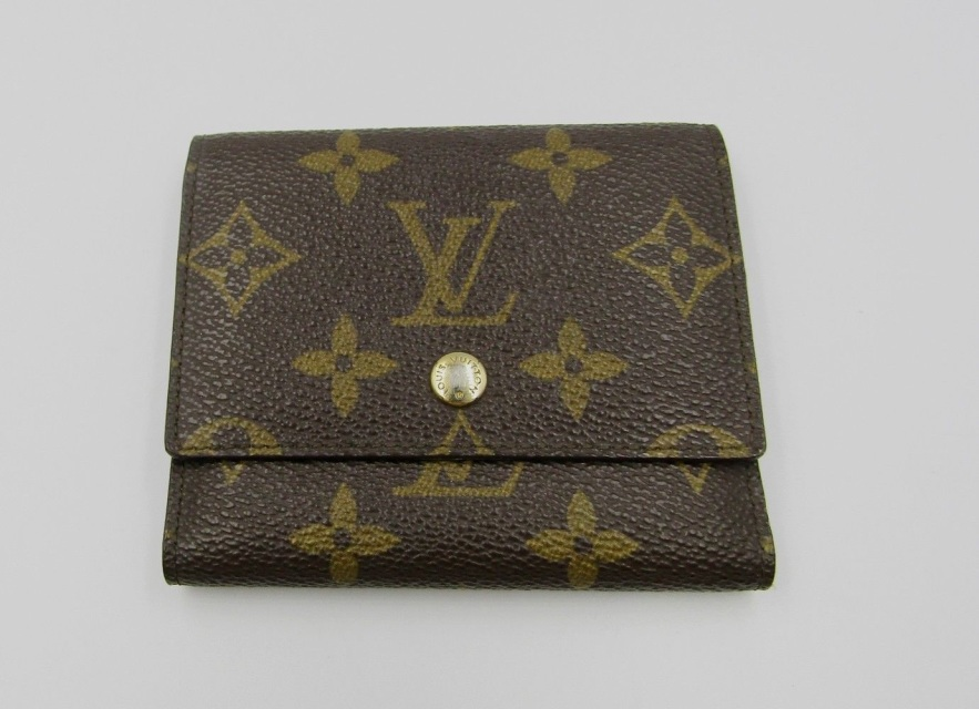 Lv Louis Vuitton Vintage Monogram Canvas Photo Card Holder