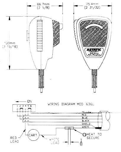 astatic microphone wiring diagram