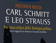 Cover book | Carl Schmitt e Leo Strauss | Heinrich Meier