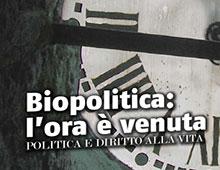 Cover book | Biopolitica: l'ora è venuta | Carlo Casini
