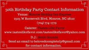 Venue Contact Info