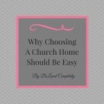 Choosing A Church Shouldn't Be Complicated