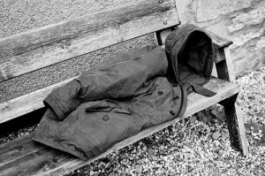 this coat was wrapped around me almost permanently often with hood up...